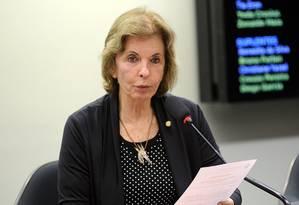 Presidente do PSDB Mulher, Yeda Crusiu Foto: LUCIO BERNARDO JR / Agência Câmara