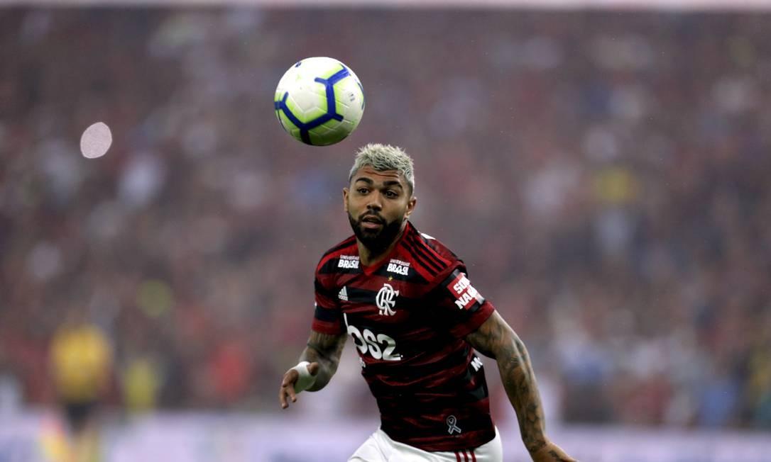 O atacante Gabriel Barbosa, o Gabigol, de 22 anos, veio emprestado pela Internazionale de Milão, depois de uma temporada cedido ao Santos Foto: Marcelo Theobald / Agência O Globo