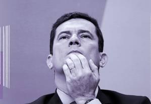 Ministro da Justiça, Sergio Moro Foto: Arte sobre foto de Adriano MachadoReuters/19-06-2019