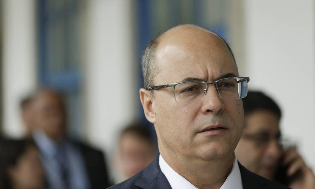 O governador do Rio, Wilson Witzel Foto: Gabriel de Paiva / Agência O Globo