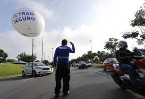 Primeira Operação Detran Seguro, realizada no Aterro do Flamengo no último dia 8 de abril Foto: Pablo Jacob / Agência O Globo