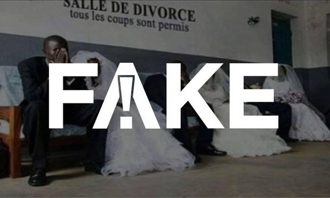 FAKE que em Gana casais têm de se vestir de noivos para se divorciar Foto: Reprodução