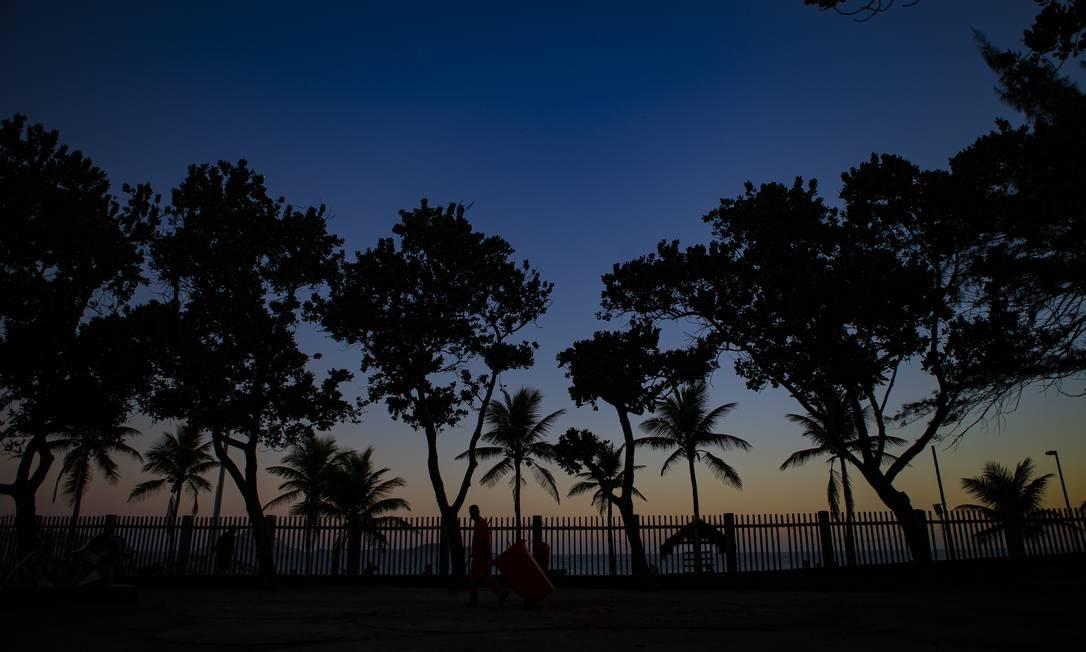 As árvores do Parque Garota de Ipanema, no Arpoador Foto: Alexandre Cassiano / Agência O Globo