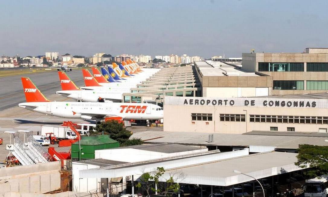 O aeroporto de Congonhas, em São Paulo Foto: Valter Campanato/Agência Brasil