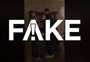 FAKE que vídeo mostre encontro entre Toffoli e Glenn Greenwald Foto: Reprodução