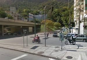 Acesso ao Túnel Rebouças, no Humaitá Foto: Reprodução