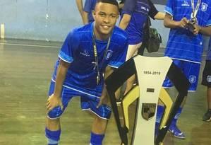 Gabriel sonhava ser jogador de futebol e treinava no Olaria Foto: Facebook / Reprodução