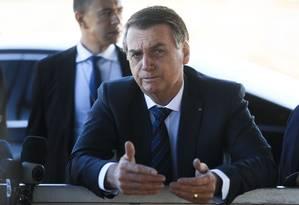 A fala ocorreu durante coletiva na saída do Palácio da Alvorada Foto: Antonio Cruz/ Agência Brasil / Agência O Globo
