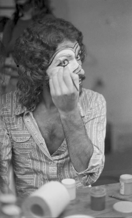 Gerson Conrad, no camarim do Maracanãzinho, 1974 Foto: Ary Brandi / Divulgação