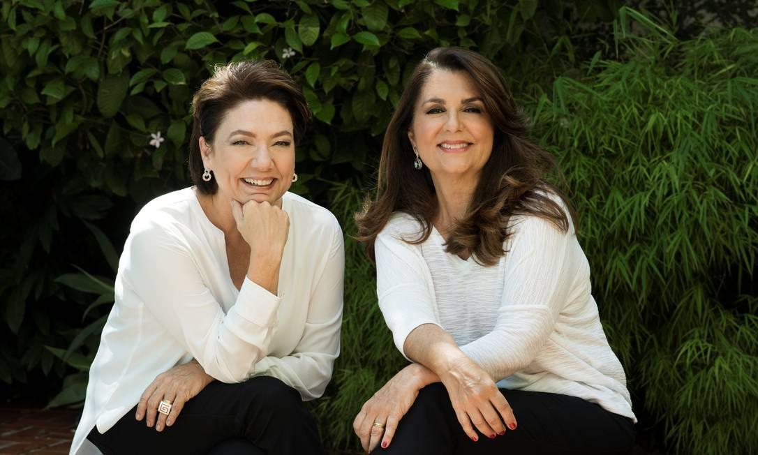 As autoras Ana Cristina Leonardos, à esquerda, e Martha Estima Foto: Divulgação