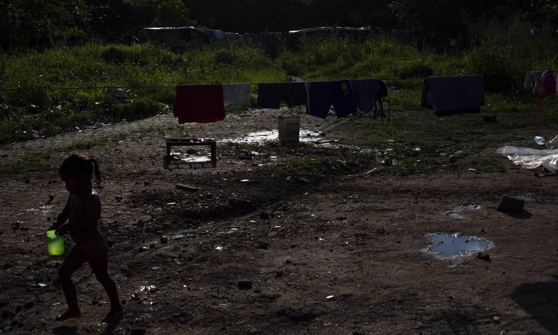Para acolher parte dessa população, a Operação Acolhida criou 11 abrigos oficiais em Boa Vista e dois em Pacaraima Foto: Daniel Marenco / Agência O Globo
