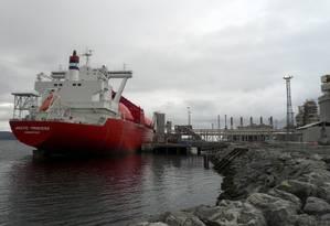 Complexo de óleo e gás na cidade de Hammerfest, na Noruega, próxima ao Círculo Polar Ártico Foto: Wojciech Moskwa/Reuters