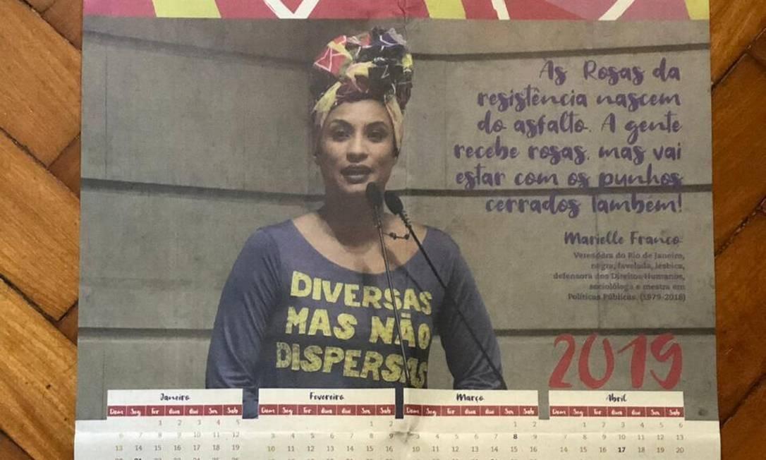 Professoras relatam que diretor arrancou calendários de Marielle Franco de suas salas e fez exigências Foto: Divulgação