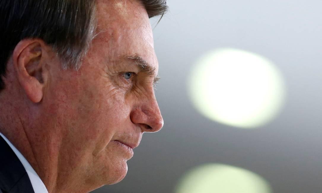 O presidente Jair Bolsonaro, durante cerimônia no Palácio do Planalto Foto: Adriano Machado/Reuters