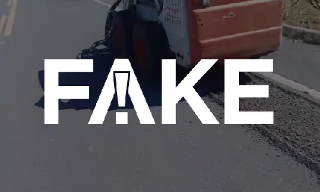 É #FAKE que vídeo mostra petistas abrindo buracos nas estradas para conseguir verbas Foto: Reprodução