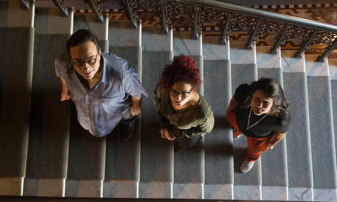 Francisco Inácio Bastos, Raquel Brandini de Boni e Carolina de Souza Coutinho, cientistas da Fiocruz Foto: Antonio Scorza / Agência O Globo