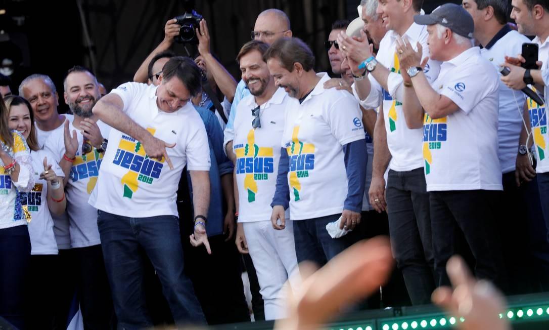 O presidente também participou da Marcha para Jesus deste ano de São Paulo Foto: Nacho Doce / Reuters