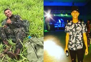 Vítimas fatais de tiros em festa: Lucas Monteiro dos Santos Costa (à esquerda) e Tiago Freitas Foto: Reprodução