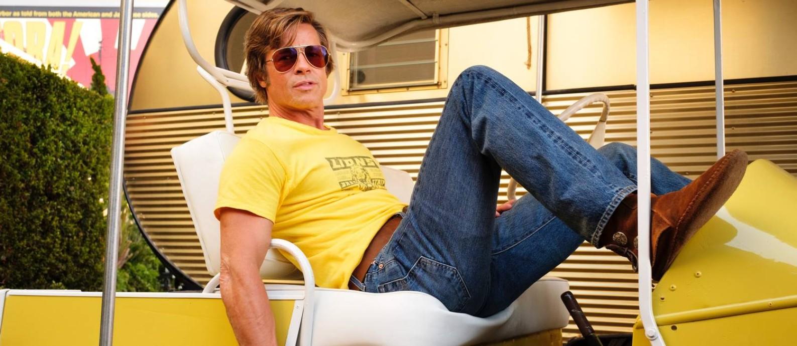 Brad Pitt em 'Era uma vez em Hollywood', de Quentin Tarantino Foto: Divulgação