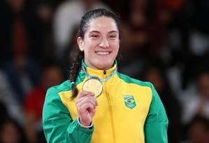 Mayra Aguiar conquistou o único ouro brasileiro deste domingo, no judô, categoria até 78 quilos Foto: SERGIO MORAES / REUTERS