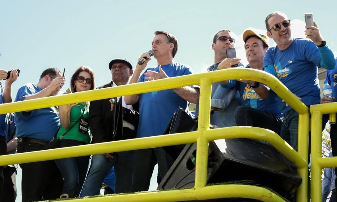 No sábado (10/08) o presidente participou da Marcha Para Jesus em Brasília Foto: Valdenio Vieira / PR