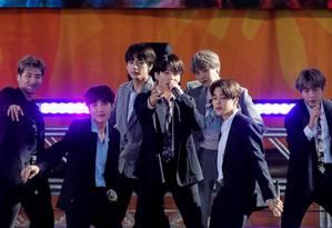 BTS retorna aos palcos em outubro Foto: Brendan McDermid / REUTERS