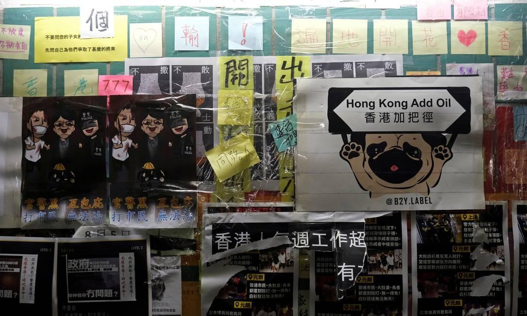 A população de Hong Kong é contra a lei de extradição que permitiria a transferência de suspeitos de crimes para a China continental Foto: TYRONE SIU / REUTERS