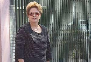 A ex-presidente Dilma Rousseff Foto: Reprodução/ TV Globo