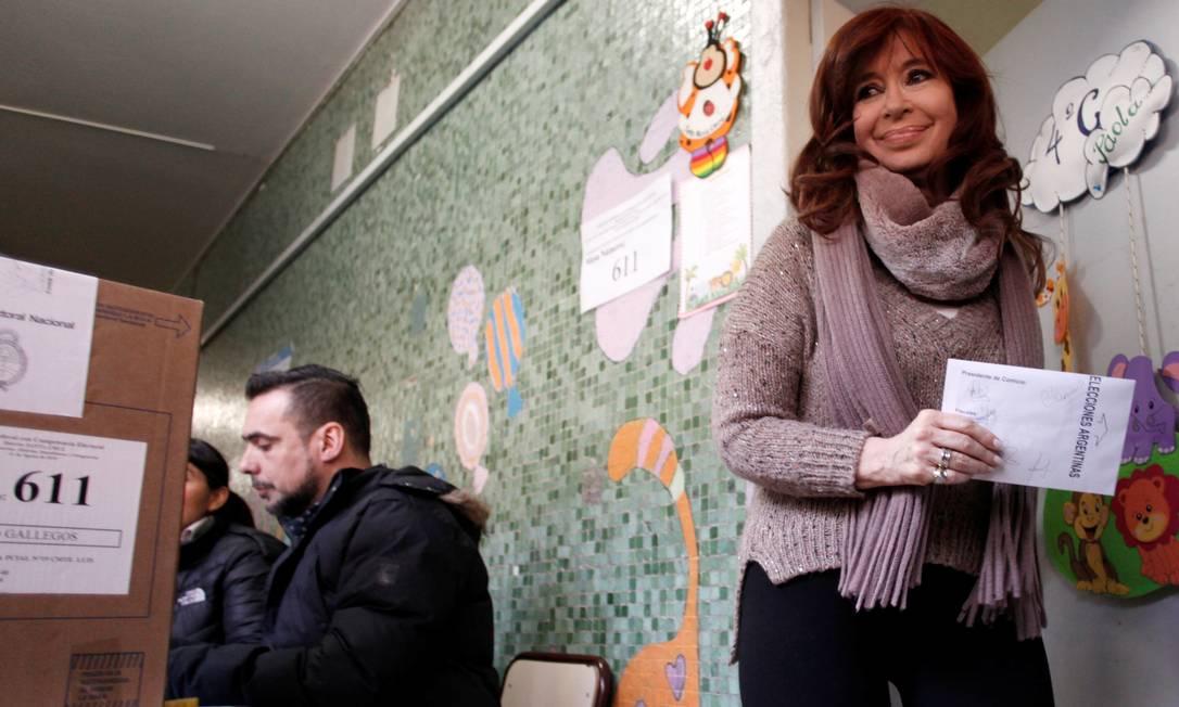 A chapa que tem a senadora Cristina Kirchner como vice venceu as primárias no domingo Foto: . / REUTERS