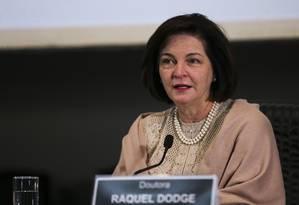 A procuradora-geral da República, Raquel Dodge Foto: José Cruz/Agência Brasil
