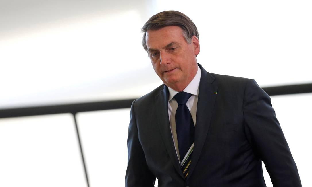 O presidente Jair Bolsonaro, durante cerimônia no Palácio do Planalto 09/08/2019 Foto: ADRIANO MACHADO / REUTERS