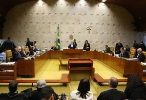 Sessão no plenário do STF Foto: Jorge William/Agência O Globo