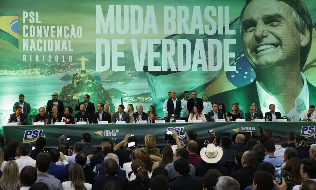Convenção do Partido Social Liberal (PSL) Foto: Fernando Frazão/Agência Brasil