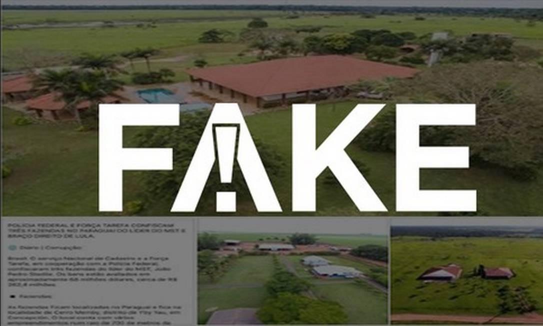 #FAKE que PF confiscou no Paraguai fazendas de liderança do MST Foto: Reprodução