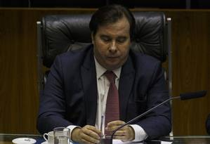 Presidente da Camara, Rodrigo Maia (DEM-RJ) Foto: Daniel Marenco / Agência O Globo