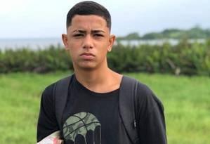 Dyogo foi morto baleado em Niterói Foto: Arquivo pessoal