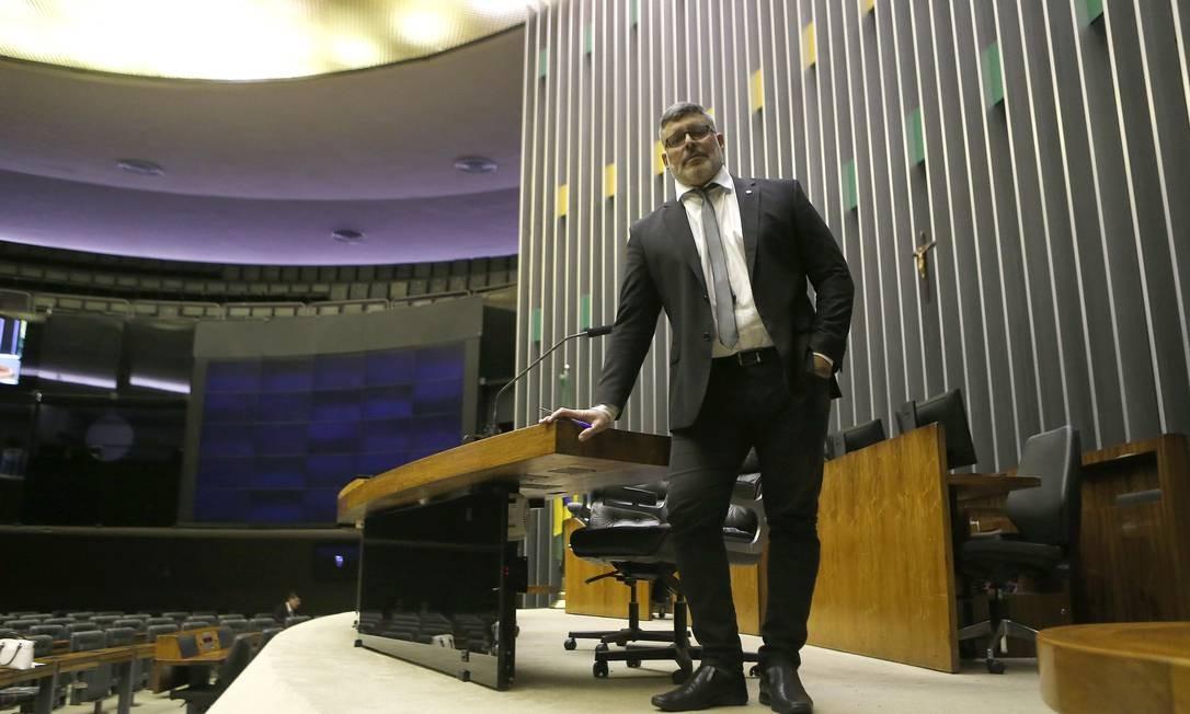 Com mais de 150 mil votos e entre os 20 mais votados por SP, Alexandre Frota foi eleito deputado federal pelo PSL Foto: Jorge William / Agência O Globo