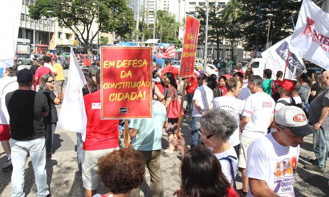 Manifestação de estudantes pela educação pública e contra a reforma da Previdência, Campinas, São Paulo Foto: luciano Claudino/Código 19 / Agência O Globo