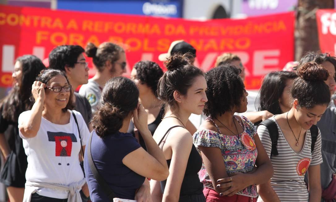 A concentração dos estudantes em Campinas ocorreu no Largo do Rosário, no bairro da Conceição Foto: Luciano Claudino/Código 19 / Agência O Globo