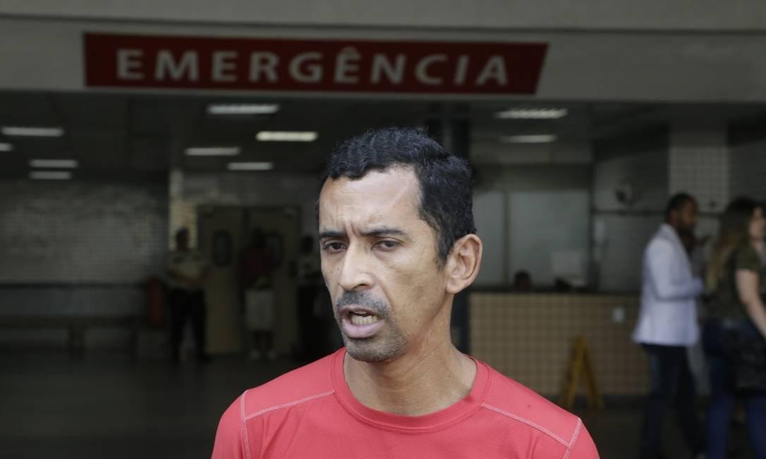 Renato Vieira, filho de seu Jair, baleado no Jacarezinho Foto: Antonio Scorza / Agência O Globo