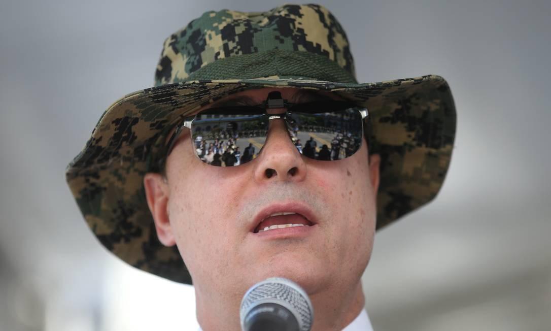 Governador Wilson Witzel em evento na semana passada Foto: Guilherme Pinto / Agência O Globo