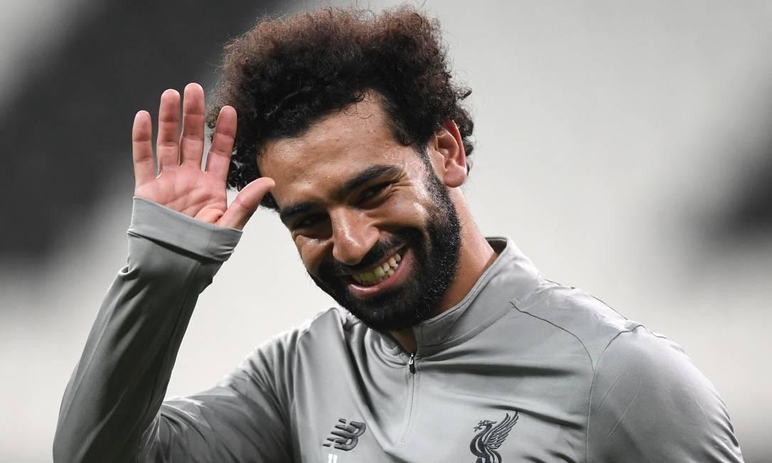 Salah estará em ação contra o Chelsea Foto: OZAN KOSE / AFP