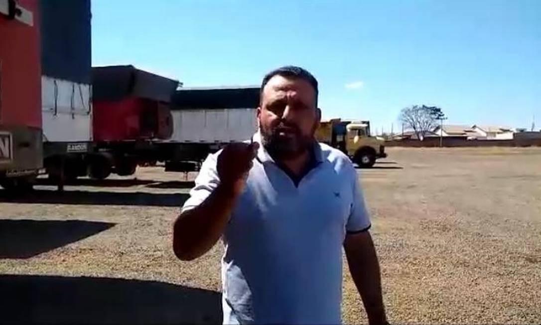 Líder dos caminhoneiros Wallace Landim, o Chorão Foto: Divulgação