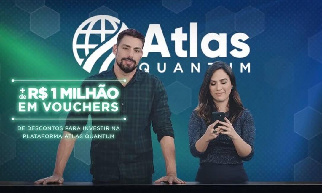 Publicidade da Atlas Quantum Foto: Divulgação