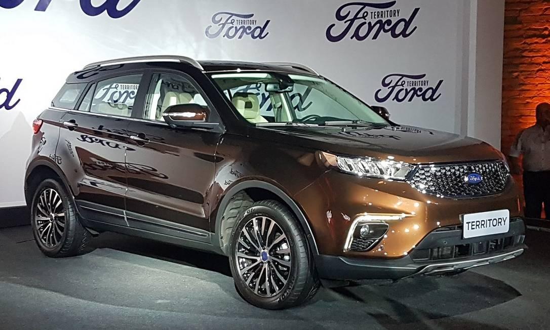 O Territory é a versão Ford do utilitário chinês JMC Yusheng S330, lançado em 2016. Foto: Fernando engelke / CarroEtc