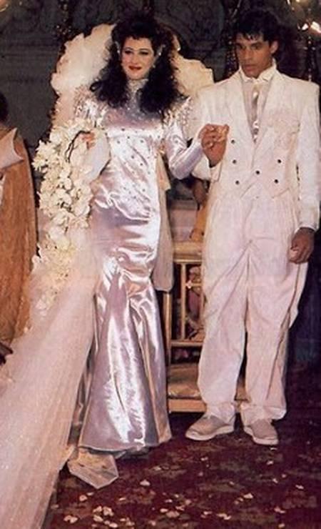 Em dezembro de 1986, subiu ao altar com Cláudia Raia, na Candelária, a igreja mais famosa do Rio Foto: Arquivo O Globo