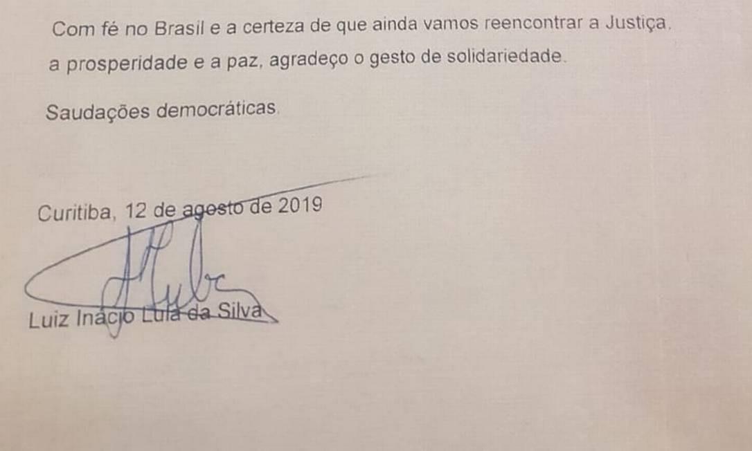 Lula envia carta ao presidente da Câmara em agradecimento por ato contra transferência Foto: Época