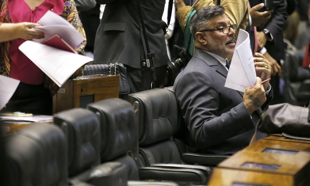 Após sete meses de mandato, o deputado federal Alexandre Frota foi expulso do Partido Social Liberal (PSL) Foto: Jorge William / Agência O Globo 20/02/2019