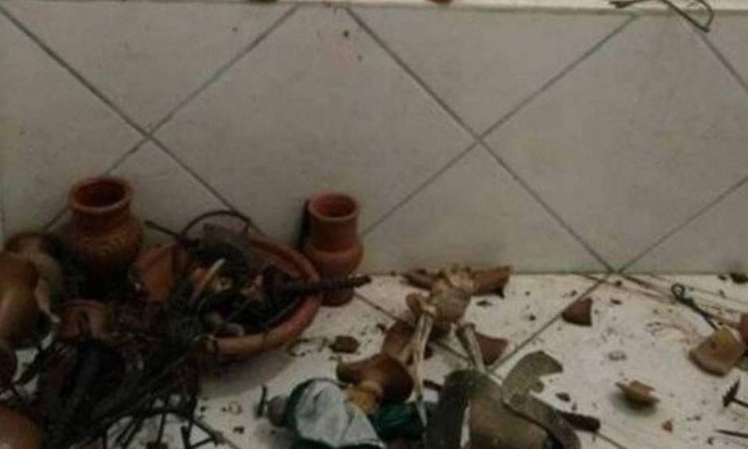 Um dos centros depredados em Duque de Caxias Foto: Foto de Arquivo