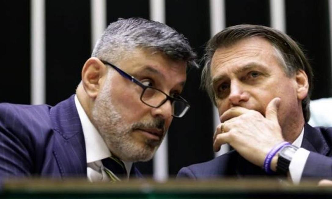 Alexandre Frota ao lado do presidente Jair Bolsonaro Foto: Agência Câmara